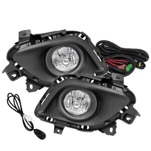 Fit 13 15 Mazda 6 Front Bumper Fog Lights Clear H11 Bulbs Wiring switch