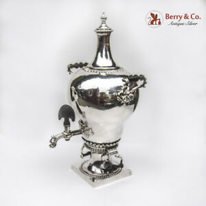 Elizabeth Godfrey Rococo Tea Urn 1761 London Sterling Silver