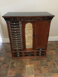 Rare Brainerd Armstrong Antique Floor Display Spool Silk Thread Cabinet