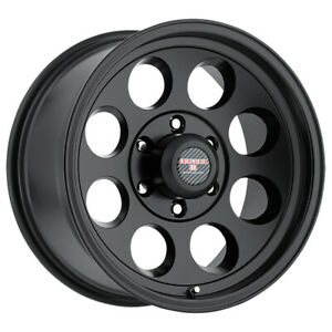 4 Level 8 Tracker 17x8 5 5x135 6mm Matte Black Wheels Rims