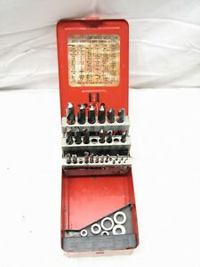 Set Snap On Mechanics Auto Drill Bits Db29a 1 16 1 2 X 1 64 W case