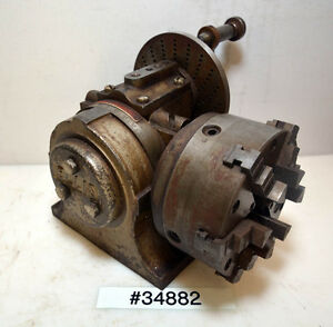 Ellis Dividing Head With 5 6 Jaw Buck Chuck inv 34882