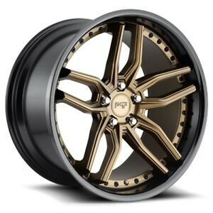 Set Of 4 Niche Wheels M195 Methos 20x10 5 5x120 35 Bronze Black Lip