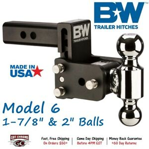 Ts10035b B W 3 Drop Tow Stow Adjustable Dual Ball Mount For 2 Receiver Hitch