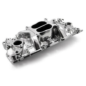 Polished Small Block Fits Chevy 283 350 383 Aluminum Intake Manifold