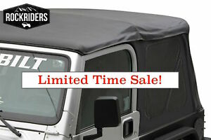 97 06 Jeep Wrangler Soft Top With Rear Tinted Windows 3 Year Warranty