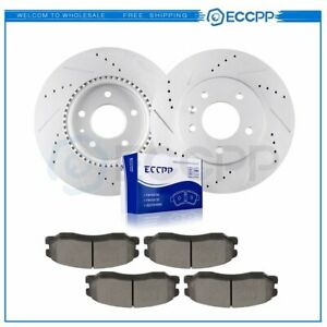 Front Discs Brake Rotors And Ceramic Pads For Chevrolet Captiva 2012 2015 Drill