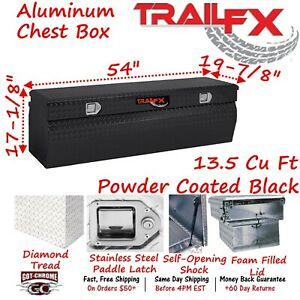 150562 Trailfx 54 Black Aluminum Truck Bed Chest Tool Box Wedge