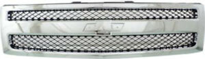 Chrome Grill Assembly For 2007 2013 Chevrolet Silverado 1500 Grille Gm1200572