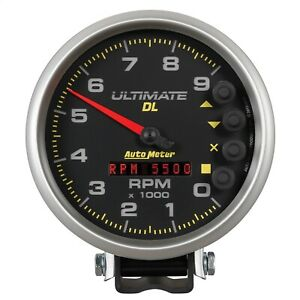 Autometer 6896 Ultimate Dl Playback Tachometer 5 9000 Rpm Blk