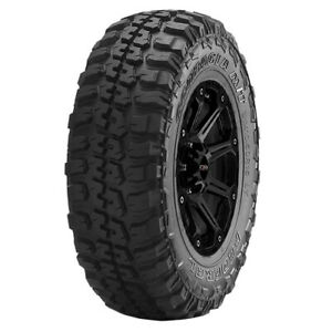 4 lt285 70r17 Federal Couragia M t 121 118q E 10 Ply White Letter Tires