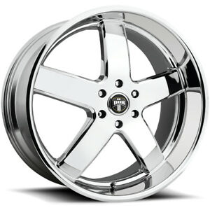 4 Dub S222 Big Baller 24x10 6x5 5 30mm Chrome Wheels Rims 24 Inch