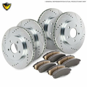Front Rear Brake Pads And Rotors Kit For Jeep Wrangler Jk Jku 2007 2017