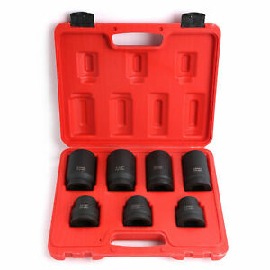 Impact Socket Set Tool For Truck Tire Service 17 19 21 33 35 38 41mm Cr mo 1 Dr