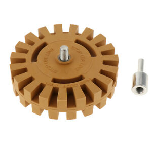 Abn Rubber Eraser Wheel Drill Adapter 1 pack Adhesive Remover Vinyl Decal
