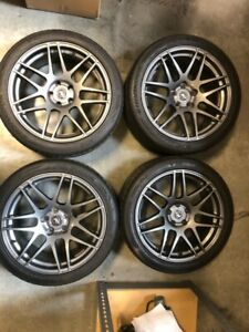 Forgestar F14 Wheels Ford Mustang 2013 Staggered Set With Tires