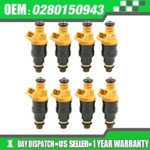 8x Upgraded Bosch 22lb 4 Hole Fuel Injectors For 85 92 Corvette Camaro 5 0l 5 7l