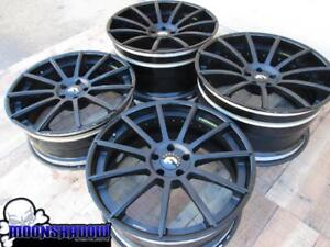 21 22 Forgiato F2 15 Black Wheels Rims 21x9 22x12 5x114 3 Ferrari 458 Spider
