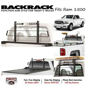 15026 Backrack Black Short Headache Rack Fits Dodge Ram 1500 2500 2002 2018