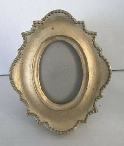 Lovely Small Antique Look Oval Photo Frame 5 X 6 26