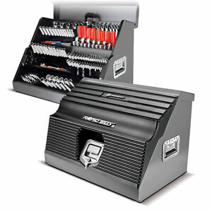 Powerbuilt 26 Rapid Box Portable Slant Front Tool Box Grey 240111