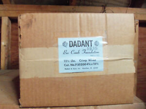 Dadant Bee Comb Foundation Wired 4 3 4 X 16 3 4 12 5 Lb F35200