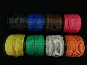 12 Gauge Thhn Wire Stranded Pick 7 Colors 100 Ft Each Thwn 600v Cable Awg