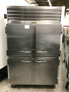 Traulsen G20000 2 Section Refrigerator With 4 Half Doors Refurbished