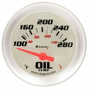 Equus 2 Inch Oil Temperature Electrical Gauge Kit White Dial Face 8243 100 280 F