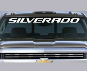 Chevrolet Silverado Windshield Decal Chevy Ss 5 3 6 2 Duramax Diesel Lt