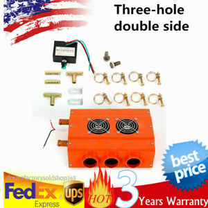 Easy To Install Universal Car Truck Three hole Double sided Air Heater 12v Usa