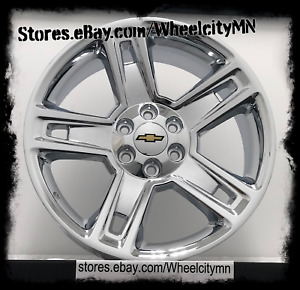 20 Inch Chrome 2015 Chevy Silverado Tahoe Suburban Ltz Oe Replica Wheels 6x5 5