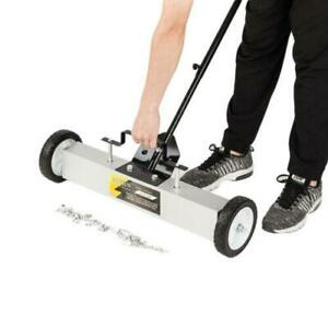 24 Heavy Duty Magnetic Floor Sweeper Xl Wide Pick Up Roller Push Broom Tool