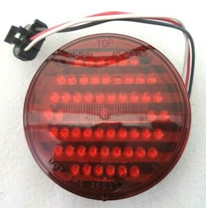 Dialight Hd 40 Series Bus Truck 4 12v Red Round Stop Tail Turn Light 40001rb802