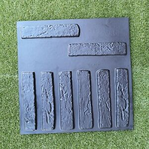 8 Pcs Plastic Molds Macedonian Brick Veneer For Concrete Plaster Wall Stone Tile