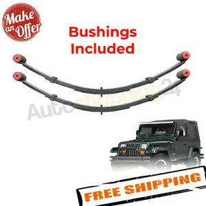 Pro Comp 51423 Rear 4 Lifted Leaf Springs 1987 1995 Jeep Wrangler yj Pair