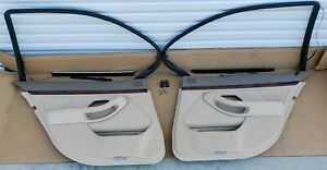 Bmw E39 Sand Beige Sedan Rear Door Panels With Working Sun Shades Window Trim