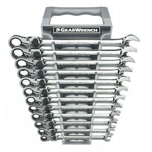 Gearwrench Metric 12 Piece 12 Point Xl Flex Head Ratcheting Wrench Set