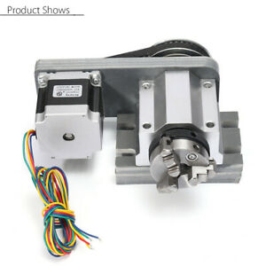 4 axis Axis Cnc Lathe Router Rotary Engraving Engraver 3 Claw Chunk Tailstock