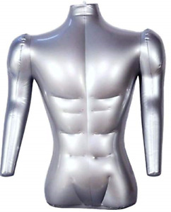 Inflatable Male Half Body Mannequin With Arms Torso Top Shirt Dress Form Dummy