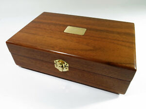 Restored And Repurposed Antique Solid Walnut Humidor Document Jewelry Trinket