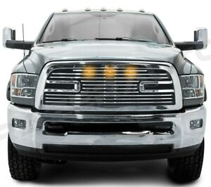 10 18 Dodge Ram 2500 3500 Big Horn Ii 3x Amber Led Chrome Packaged Grille shell