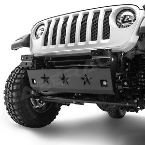 18 19 Jeep Wrangler Jl Rock Crawler Extreme Star Skid Plate For Front Bumper