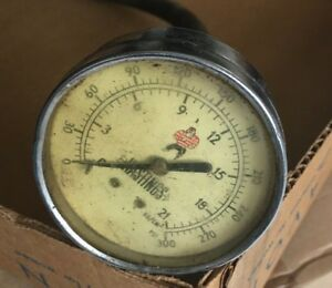 Vintage Model 56361 Hastings 19 Compression Gauge Tester W Fittings