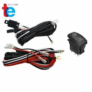 Universal Red Led Fog Light Wiring Harness Fuse Laser Rocker Switch Relay 12v Us