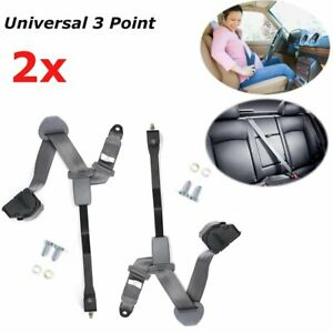 Pair 3 Point Retractable Shoulder Safety Seat Belt For Jeep Wrangler Cj Yj 82 95