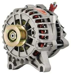 Powermaster 47795 Alternator Ford 6g 200 Amp 130 Idle 6 Groove Pulley