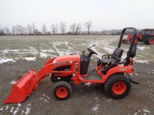 Kubota Bx2360 Tractor 4wd Hydro La243 Front Loader R4 Tires 227 Hours