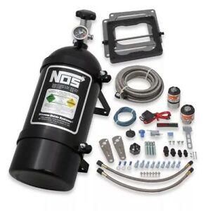 Nos 02102bnos Big Shot Wet Nitrous Kit For 4500 4 Barrel Carb Black Make Offer