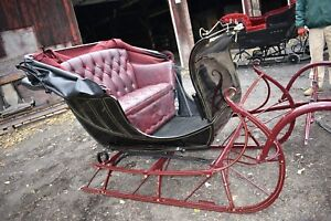 Antique Restored Dr S Sleigh Horse Drawn Sled With Top Equestrian